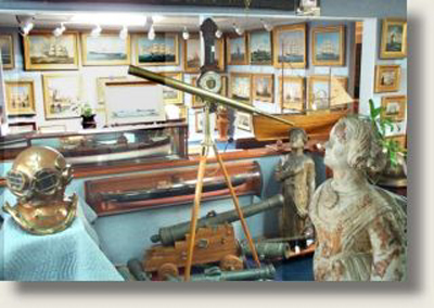 The Vallejo Gallery enjoys a reputation for offering the finest quality marine art and nautical antiques